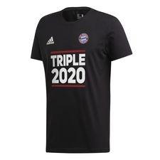 Bayern München Triple 2020 T-Shirt - Svart/Vit