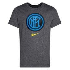 Inter T-Shirt Crest - Grå/Svart Barn