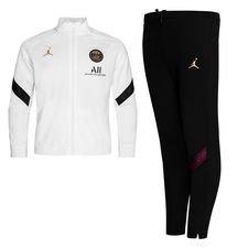 Paris Saint-Germain Träningsoverall Dry Strike Jordan x PSG - Vit/Svart/Guld Barn