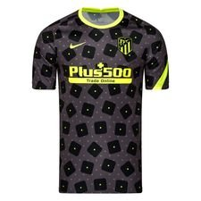 Atletico Madrid Tränings T-Shirt Pre Match - Svart/Neon Barn