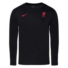 Liverpool Tränings T-Shirt - Svart/Röd Långärmad