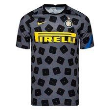 Inter Tränings T-Shirt Pre Match - Grå/Svart/Blå/Gul