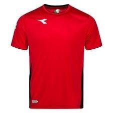 Diadora Tränings T-Shirt Equipo - Röd/Vit/Svart Barn