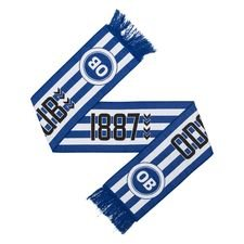 Odense Boldklub Fanschal Fan 1887 - Blau/Weiß/Schwarz
