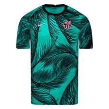 Barcelona Tränings T-Shirt Breathe Pre Match - Grön/Svart/Rosa
