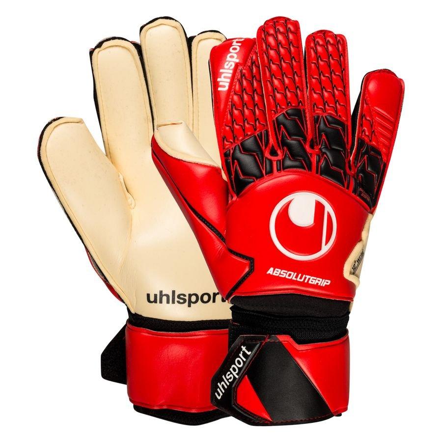 Uhlsport Keepershandschoenen Absolutgrip - Rood/Zwart/Wit