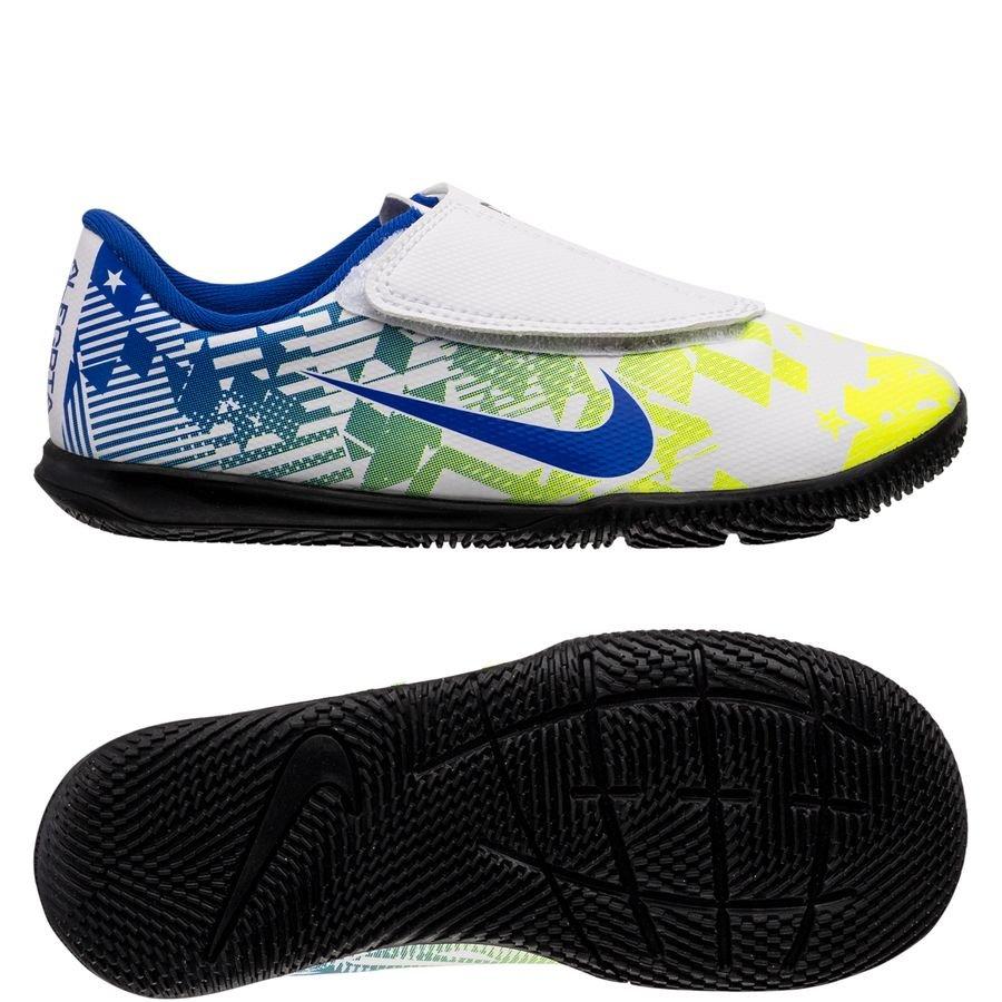 Nike Mercurial Vapor 13 Club Velcro IC NJR Jogo Prismatico - Hvid/Blå/Neon/Sort Børn thumbnail