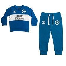 Odense Boldklub Trainingspak Fan Baby - Blauw/Wit Kinderen