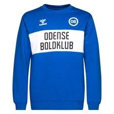 Odense Boldklub Sweatshirt Fan - Blå/Vit Barn