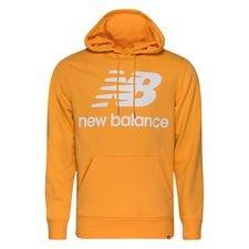 New Balance Hoodie Essentials Stacked Logo - Orange/Weiß