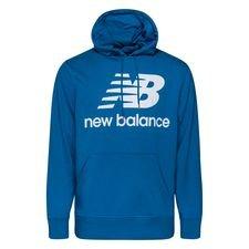 New Balance Hoodie Essentials Stacked Logo - Blau/Weiß
