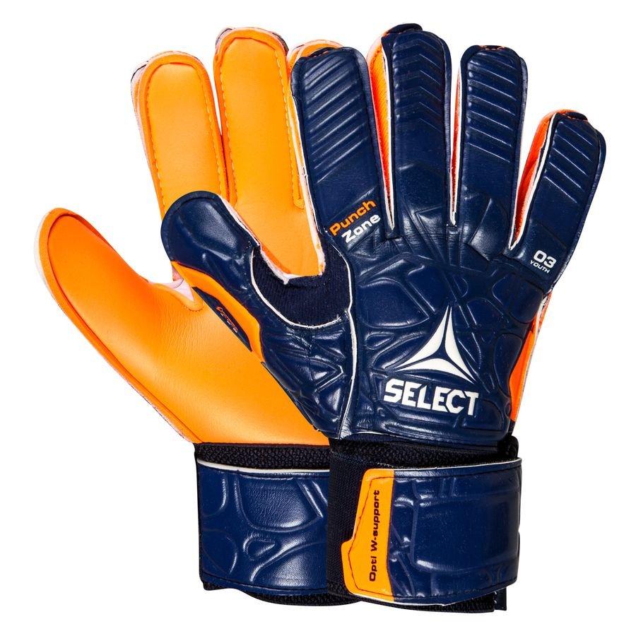 Select Keepershandschoenen 03 - Blauw/Oranje Kinderen