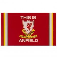 Liverpool Flagga Logo - Röd/Vit