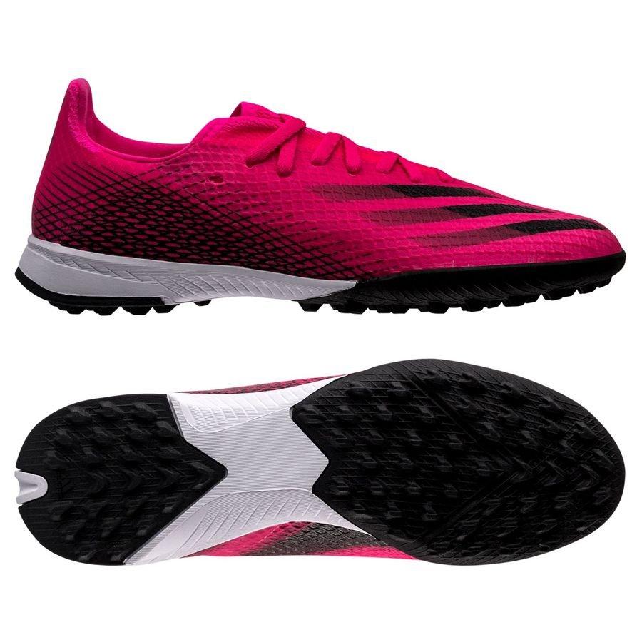 adidas X Ghosted .3 TF Superspectral - Pink/Sort/Orange Børn