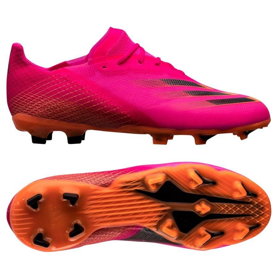 adidas X Ghosted .1 FG/AG Superspectral - Pink/Sort/Orange Børn