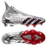 adidas Predator Freak + FG/AG Showpiece - Argenté/Noir/Rouge