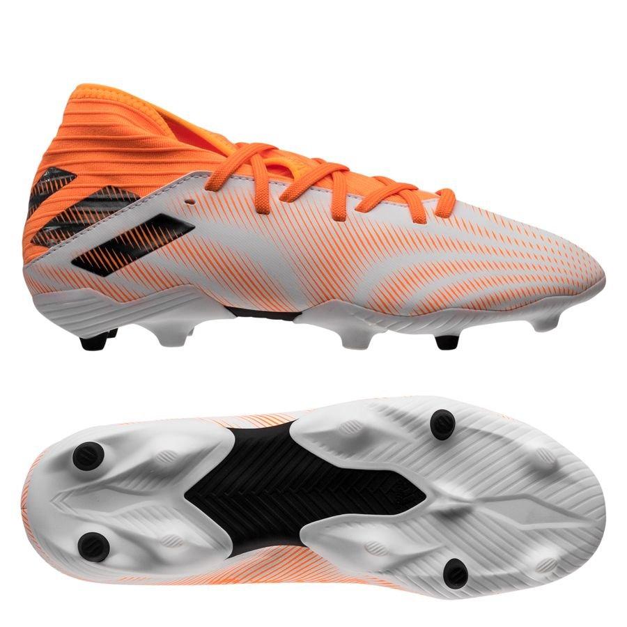 adidas Nemeziz .3 FG/AG Superspectral - Hvid/Orange/Sort Børn