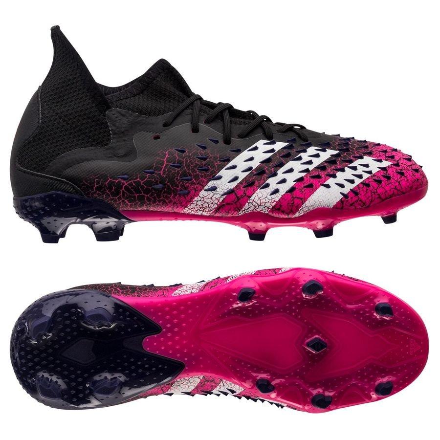 adidas Predator Freak .1 FG/AG Superspectral - Sort/Hvid/Pink Børn