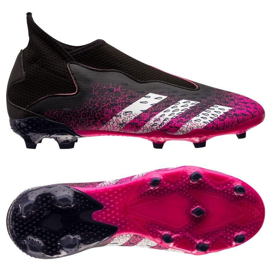 adidas Predator Freak .3 Laceless FG/AG Superspectral - Sort/Hvid/Pink Børn