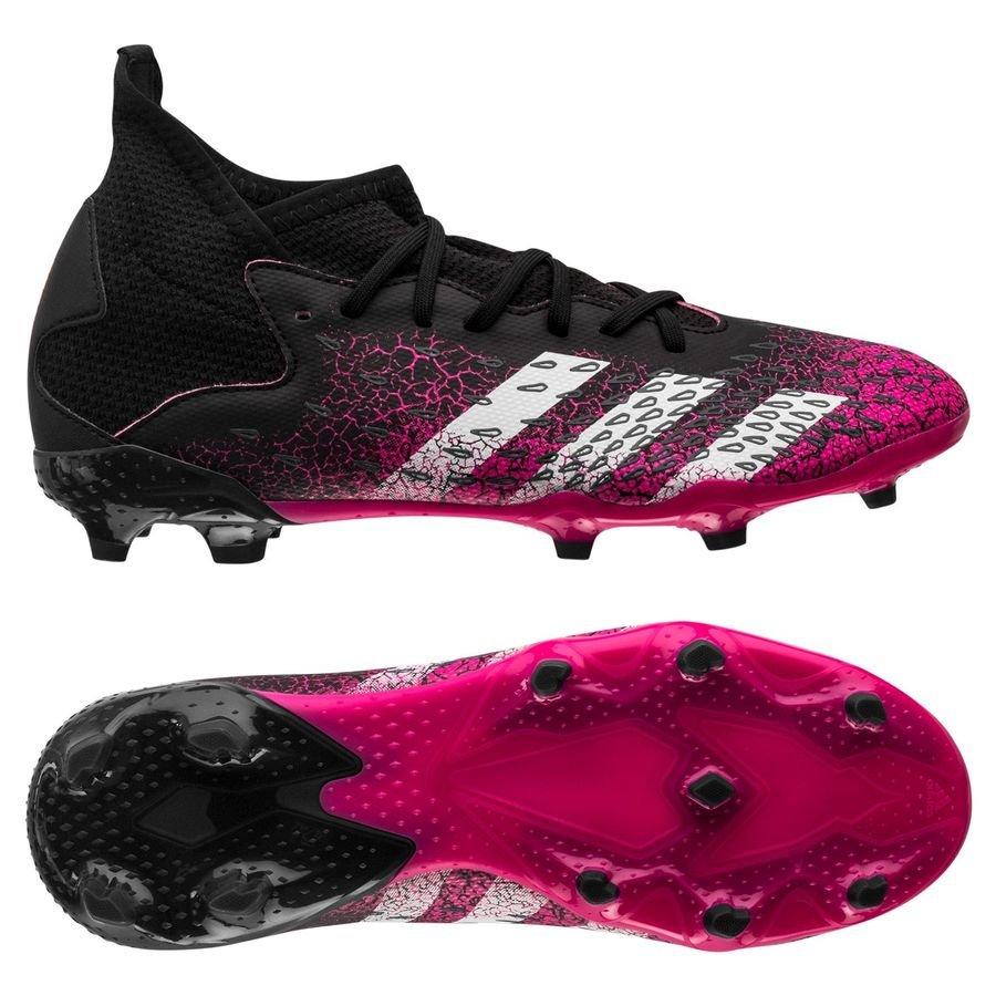 adidas Predator Freak .3 FG/AG Superspectral - Sort/Hvid/Pink Børn