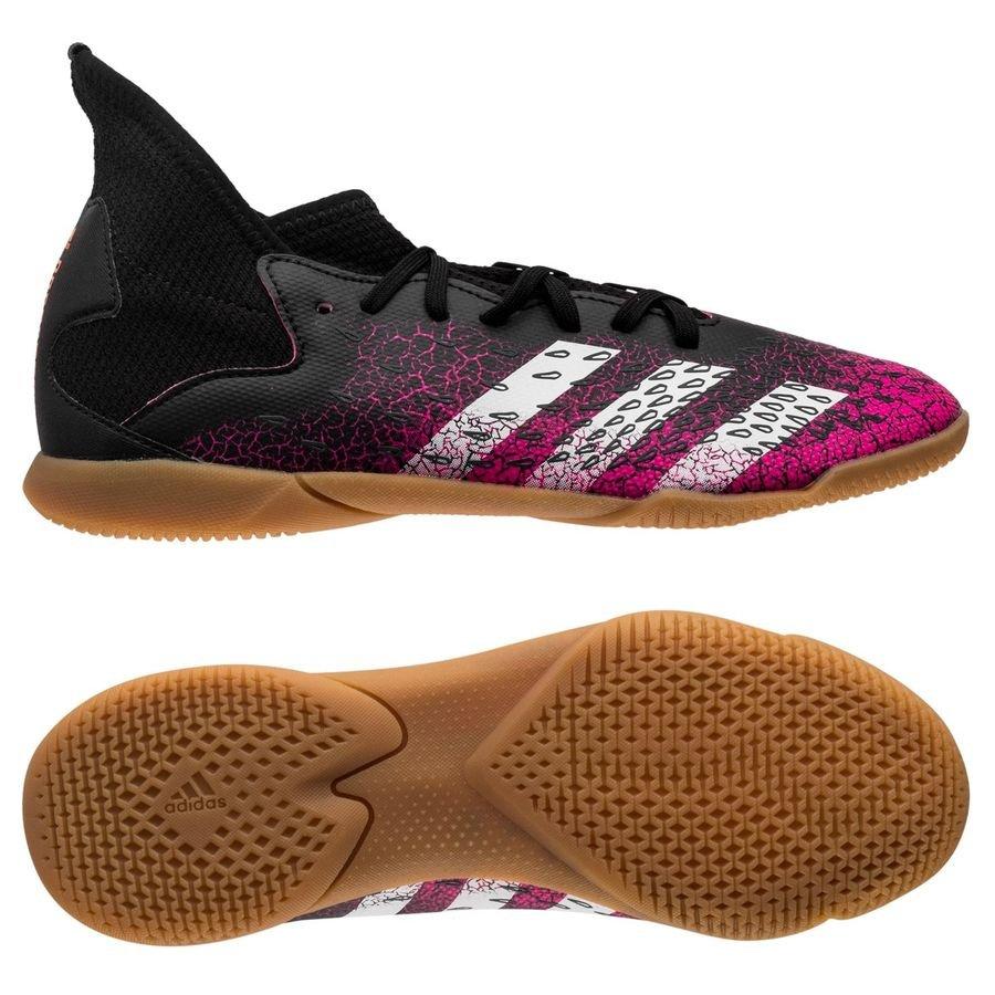 adidas Predator Freak .3 IN Superspectral - Sort/Hvid/Pink Børn