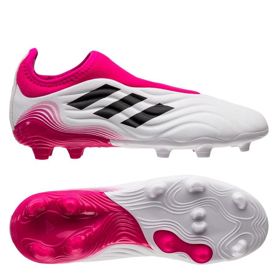 adidas Copa Sense .3 Laceless FG/AG Superspectral - Hvid/Pink Børn