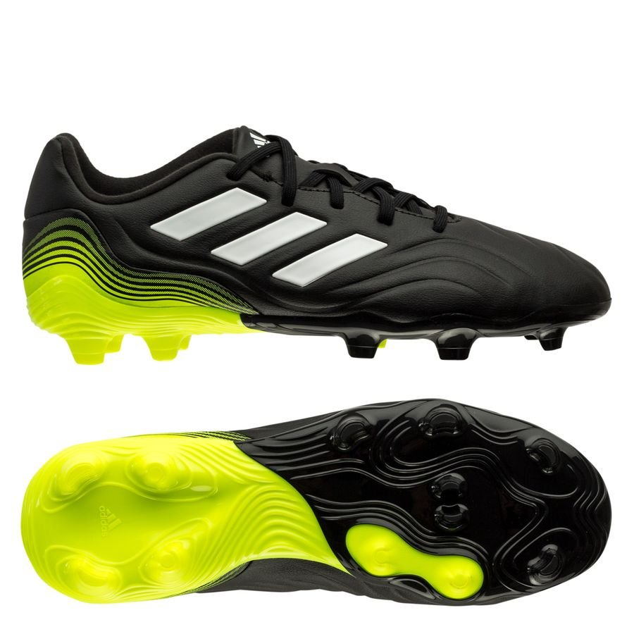 adidas Copa Sense .3 FG/AG Superlative - Sort/Hvid/Gul Børn thumbnail