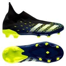 adidas Predator Freak .3 Laceless FG/AG - Sort/Hvid/Gul