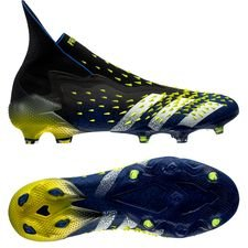 adidas Predator Freak + FG/AG - Sort/Hvid/Gul