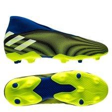 adidas Nemeziz .3 FG/AG Laceless Superlative - Sort/Hvid/Gul Børn