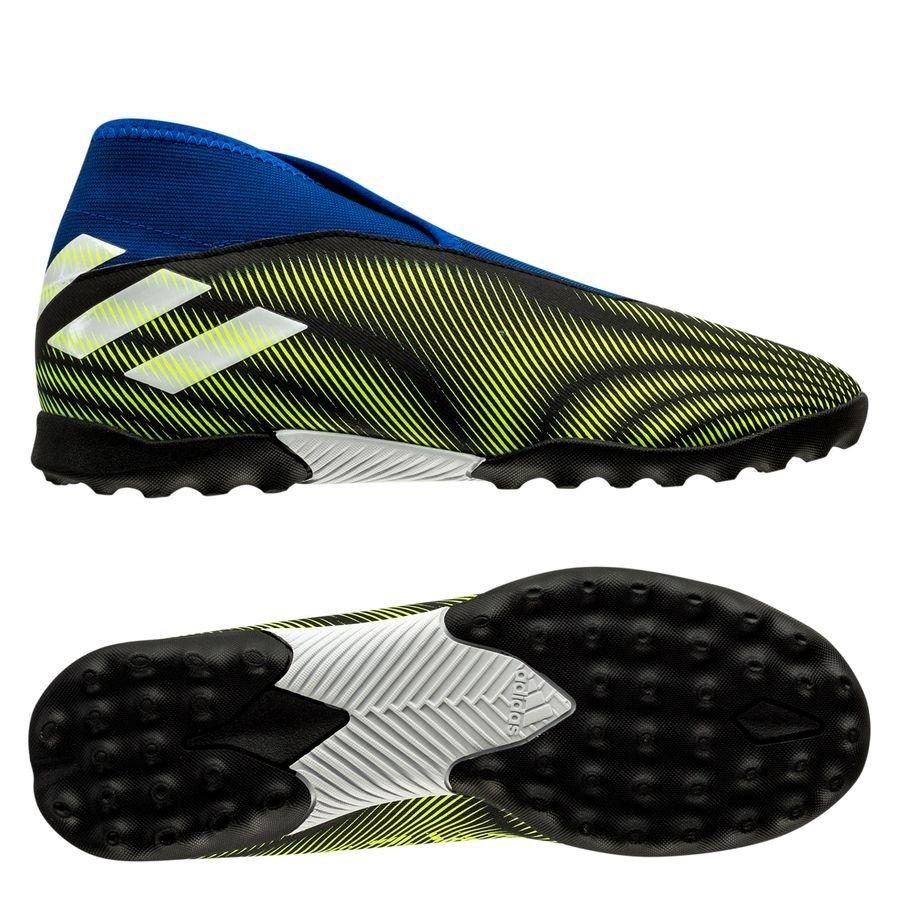 adidas Nemeziz .3 TF Laceless Superlative - Sort/Hvid/Gul Børn thumbnail
