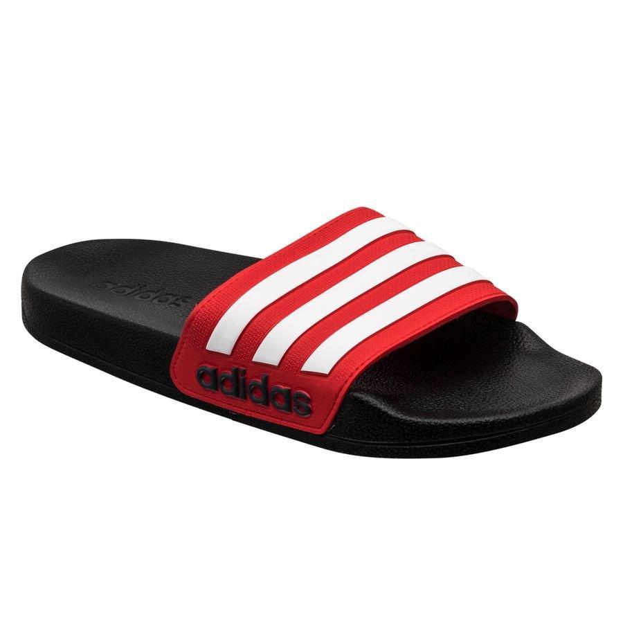 adidas Badesandal adilette Shower - Sort/Hvid/Rød Børn thumbnail