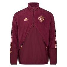 Manchester United Jacka Travel Fleece - Bordeaux