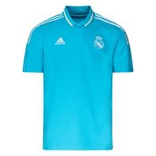 Real Madrid Piké 3-Stripes - Turkos