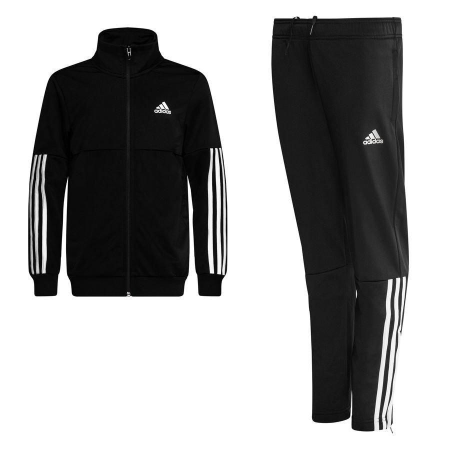 adidas Træningsdragt 3-Stripes - Sort/Hvid Børn thumbnail