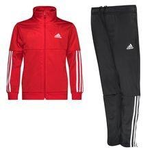 adidas Trainingspak 3-Stripes - Rood/Wit Kinderen