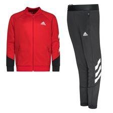 adidas Trainingspak 3-Stripes XFG - Rood/Grijs/Wit Kinderen
