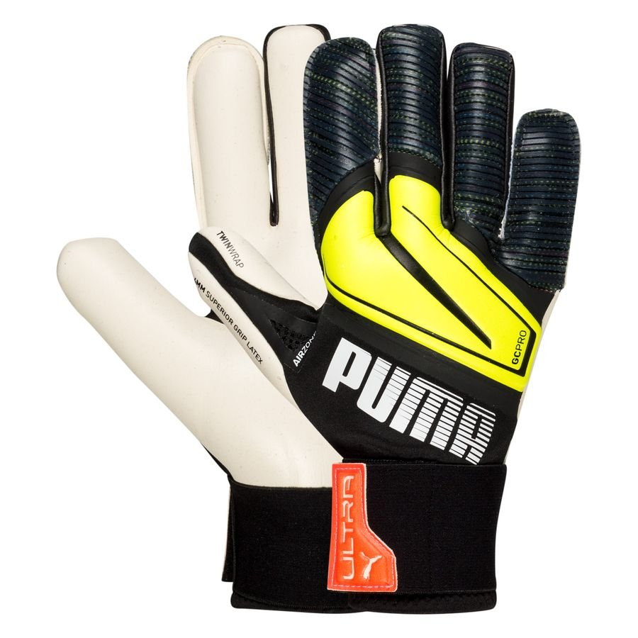 PUMA Keepershandschoenen Ultra Grip 1 Hybrid Pro Game On - Zwart/Geel