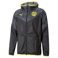 Dortmund Jacka Warm Up - Svart/Gul