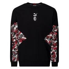 Milan Sweatshirt Crew Tailored For Sports - Röd/Svart