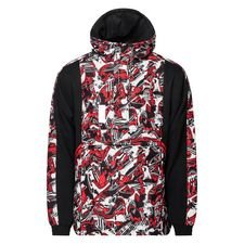 Milan Jacka Woven 1/2 Zip Tailored For Sports - Röd/Svart