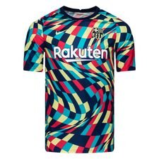 Barcelona Tränings T-Shirt Pre Match - Navy/Grön