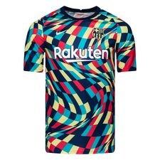 Barcelona Tränings T-Shirt Pre Match - Navy/Grön Barn