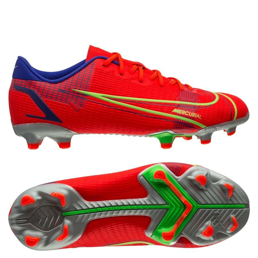 Nike Mercurial Vapor 14 Academy MG Spectrum - Rød/Sølv Børn