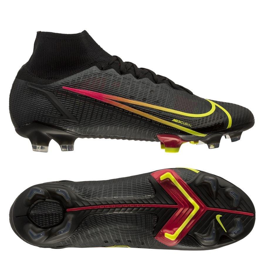 Nike Mercurial Superfly 8 Elite FG Black x Prism - Zwart/Geel/Rood <br/>EUR 188.95 <br/> <a href=