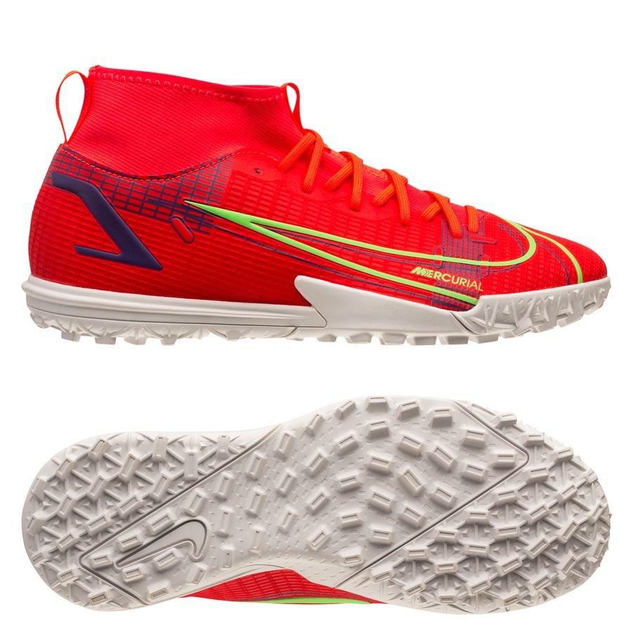 Nike Mercurial Superfly 8 Academy TF Spectrum - Rood/Zilver Kinderen <br/>EUR 34.95 <br/> <a href=