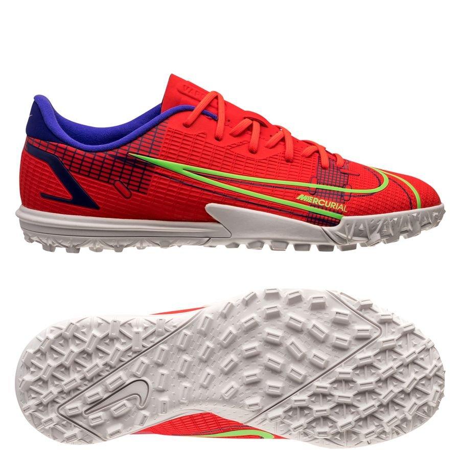 Nike Mercurial Vapor 14 Academy TF Spectrum - Rød/Sølv Børn