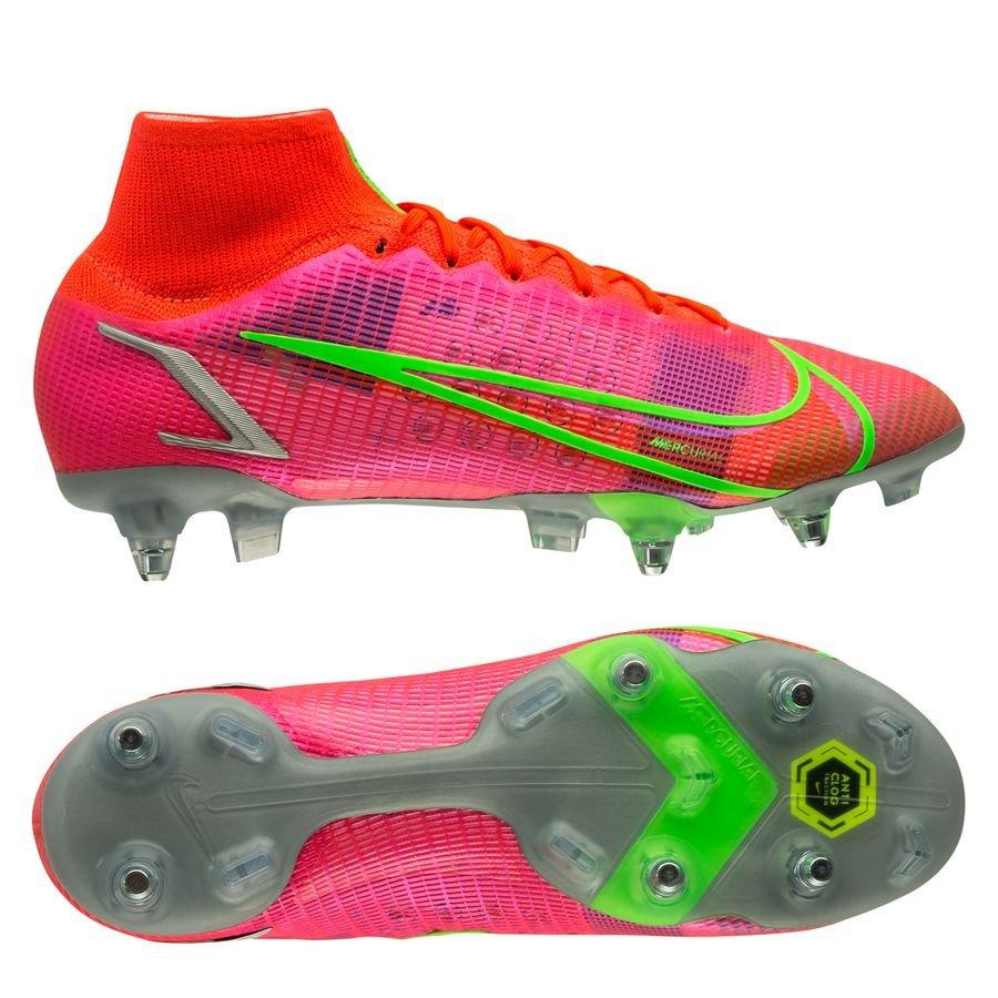 Nike Mercurial Superfly 8 Elite SG-PRO Anti-Clog Spectrum - Rood/Zilver <br/>EUR 209.95 <br/> <a href=