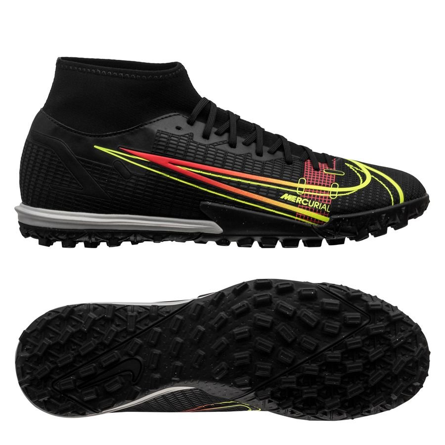 Nike Mercurial Superfly 8 Academy TF Black x Prism - Zwart/Geel/Rood <br/>EUR 66.95 <br/> <a href=