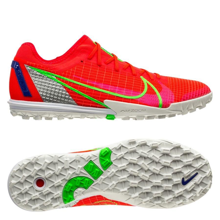 Nike Mercurial Zoom Vapor 14 Pro TF Spectrum - Punainen/Hopea